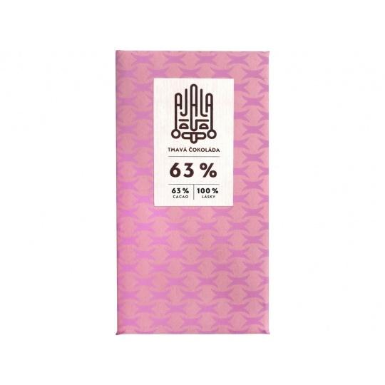 Bio čokoláda 63% tmavá výběrové boby 45g