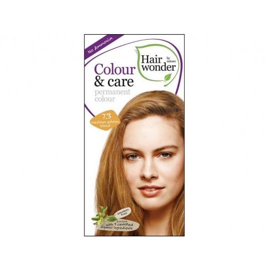 Přírodní dlouhotrvající barva Středně zlatá blond 7,3