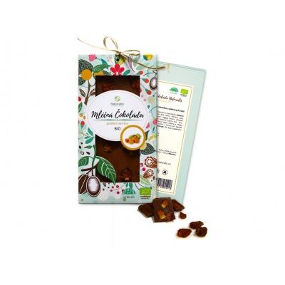 Bio čokoláda s golden berries - mléčná 80g
